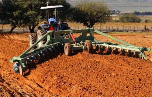 Ridger for nut and fruit trees.